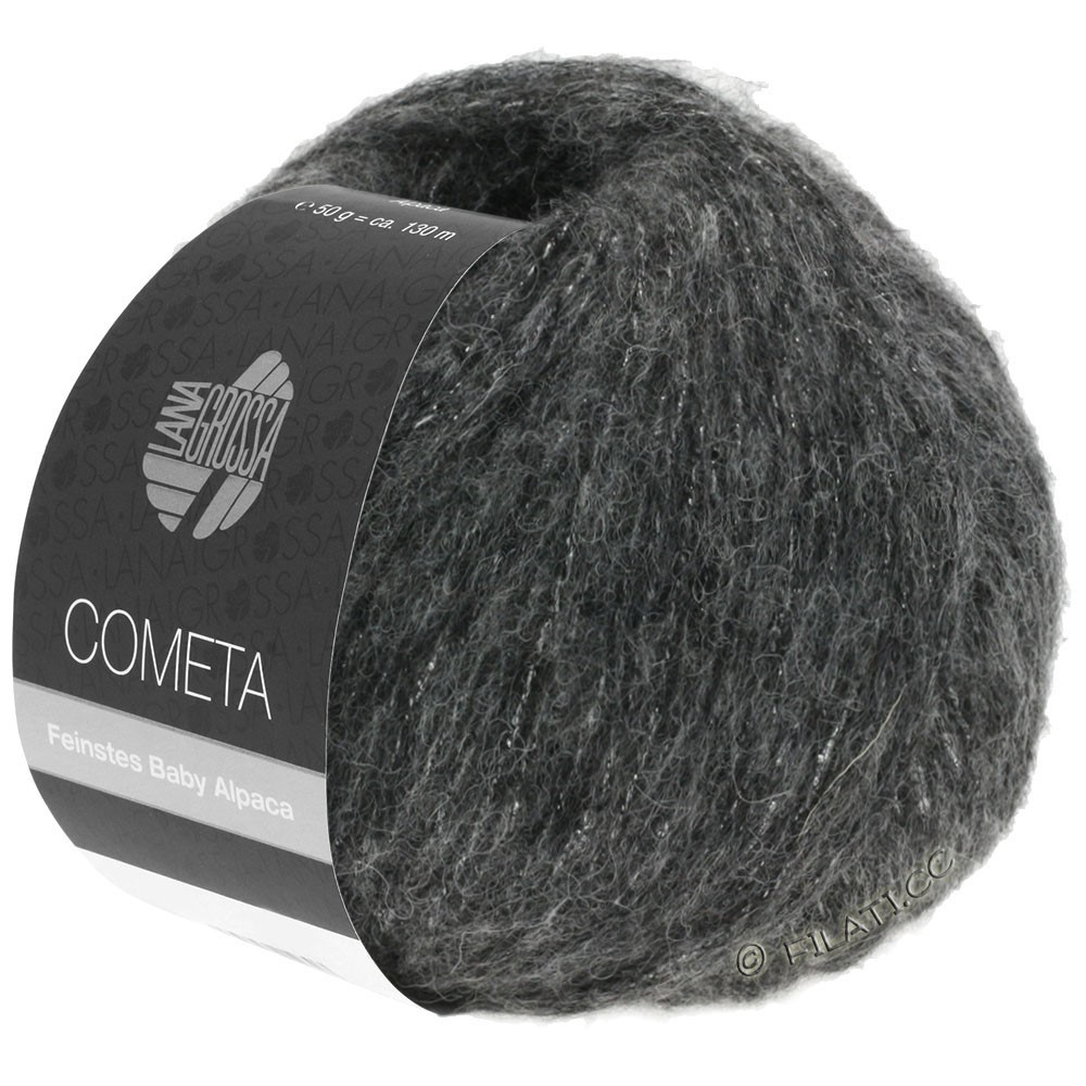 COMETA - von Lana Grossa | 14-Dunkelgrau/Silber