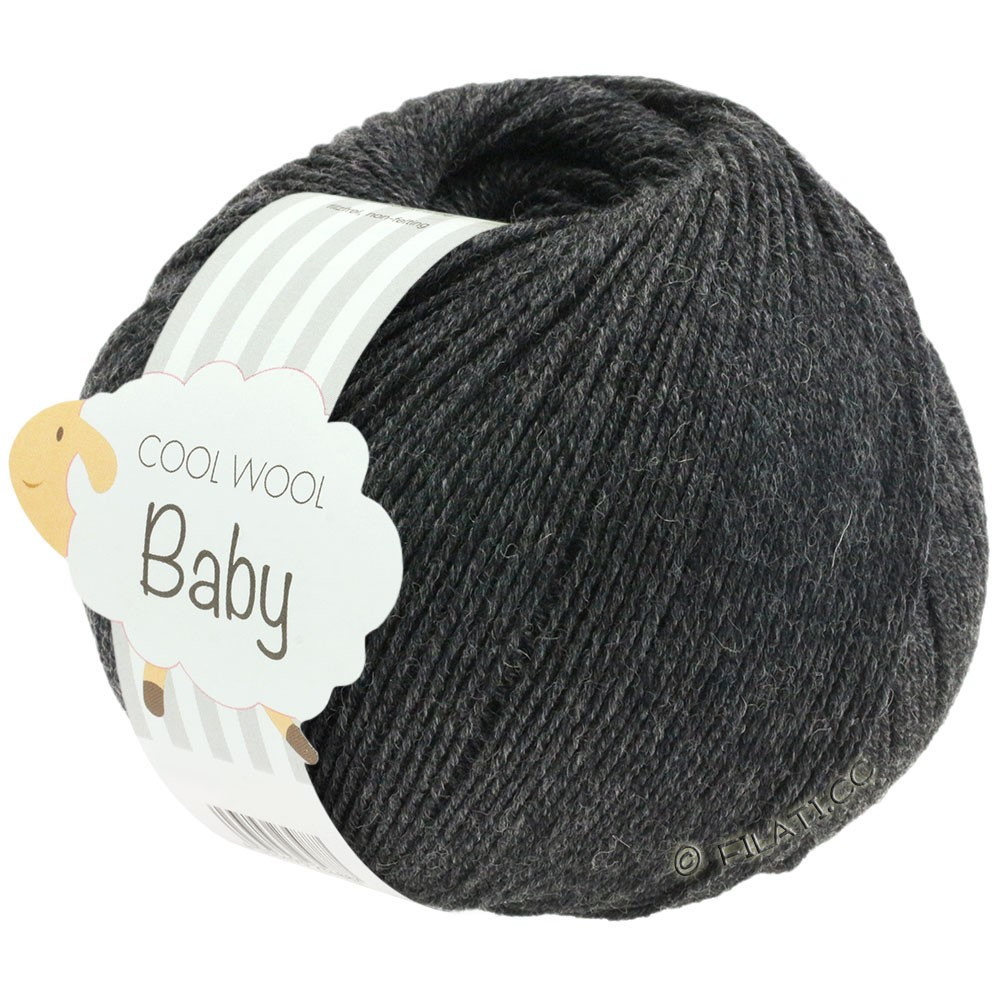 COOL WOOL Baby - von Lana Grossa | 205-Anthrazit