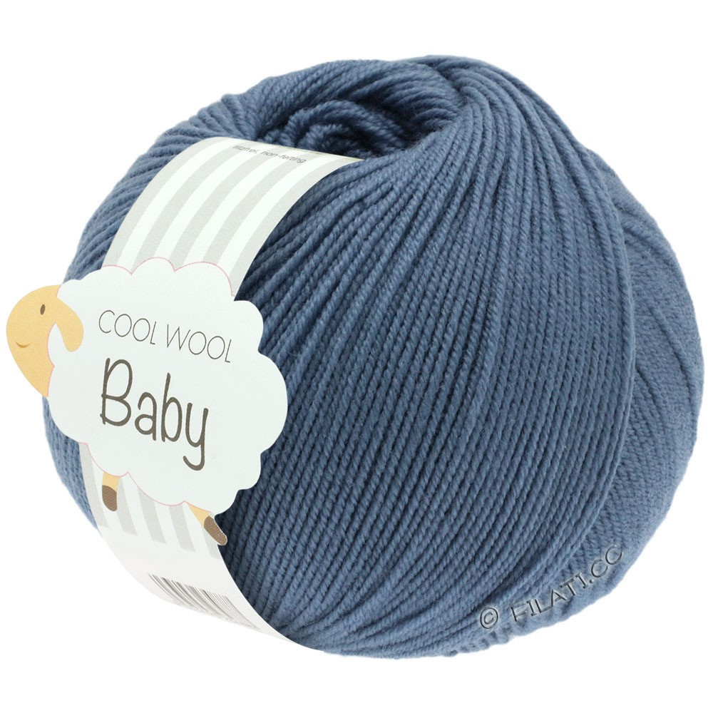 COOL WOOL Baby Uni/Degradé - von Lana Grossa | 263-Taubenblau