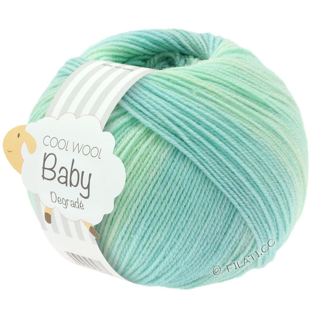 COOL WOOL Baby Uni/Degradé - von Lana Grossa | 502-Weißgrün/Pastelltürkis/Lichtgrün/Pastellblau