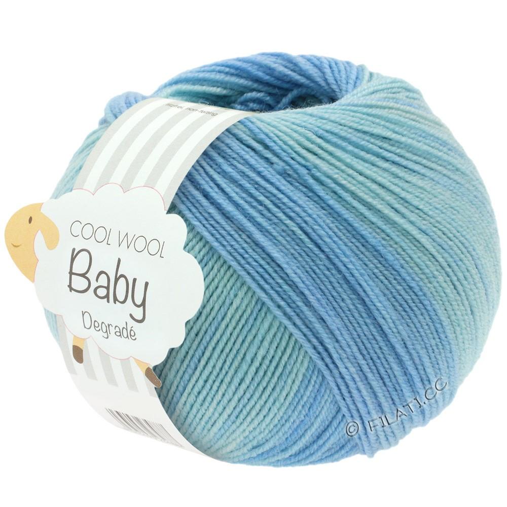 COOL WOOL Baby Uni/Degradé - von Lana Grossa | 503-Blassblau/Zartblau/Hellblau/Anemone