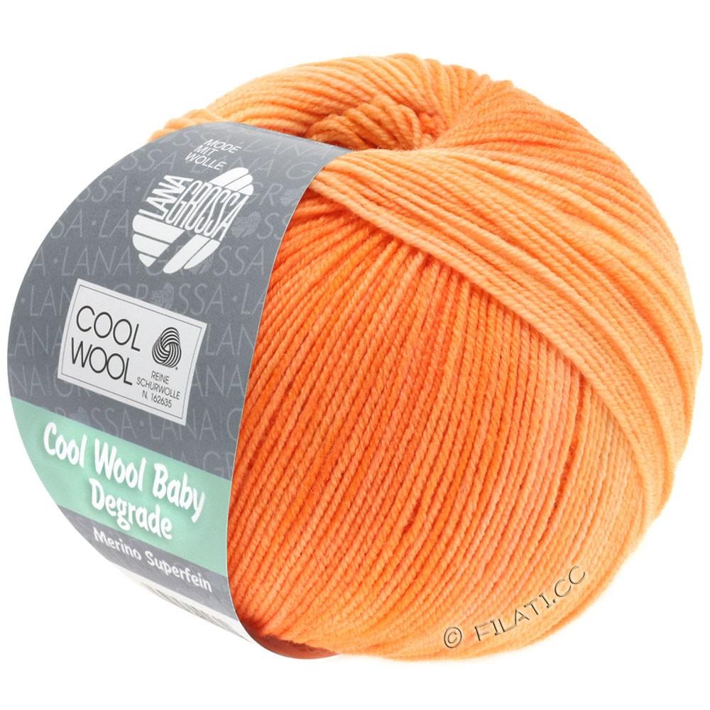 COOL WOOL Baby Uni/Degradé - von Lana Grossa | 505-Orange/Pfirsich/Zartorange/Apricot