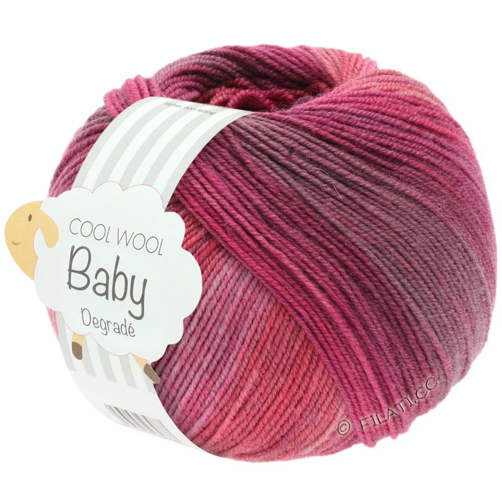 COOL WOOL Baby Uni/Degradé - von Lana Grossa | 507-Beere/Antikviolett/Himbeer