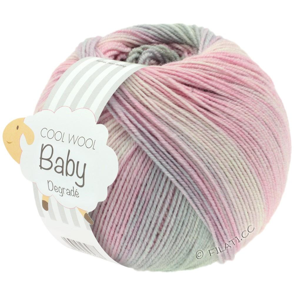 COOL WOOL Baby Uni/Degradé - von Lana Grossa | 508-Zartrosa/Nelke/Hellgrau