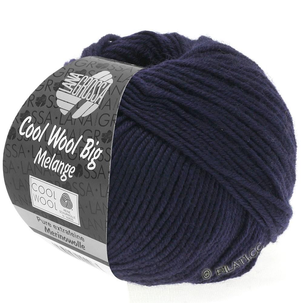 COOL WOOL Big  Uni/Melange - von Lana Grossa | 0353-Nachtblau meliert