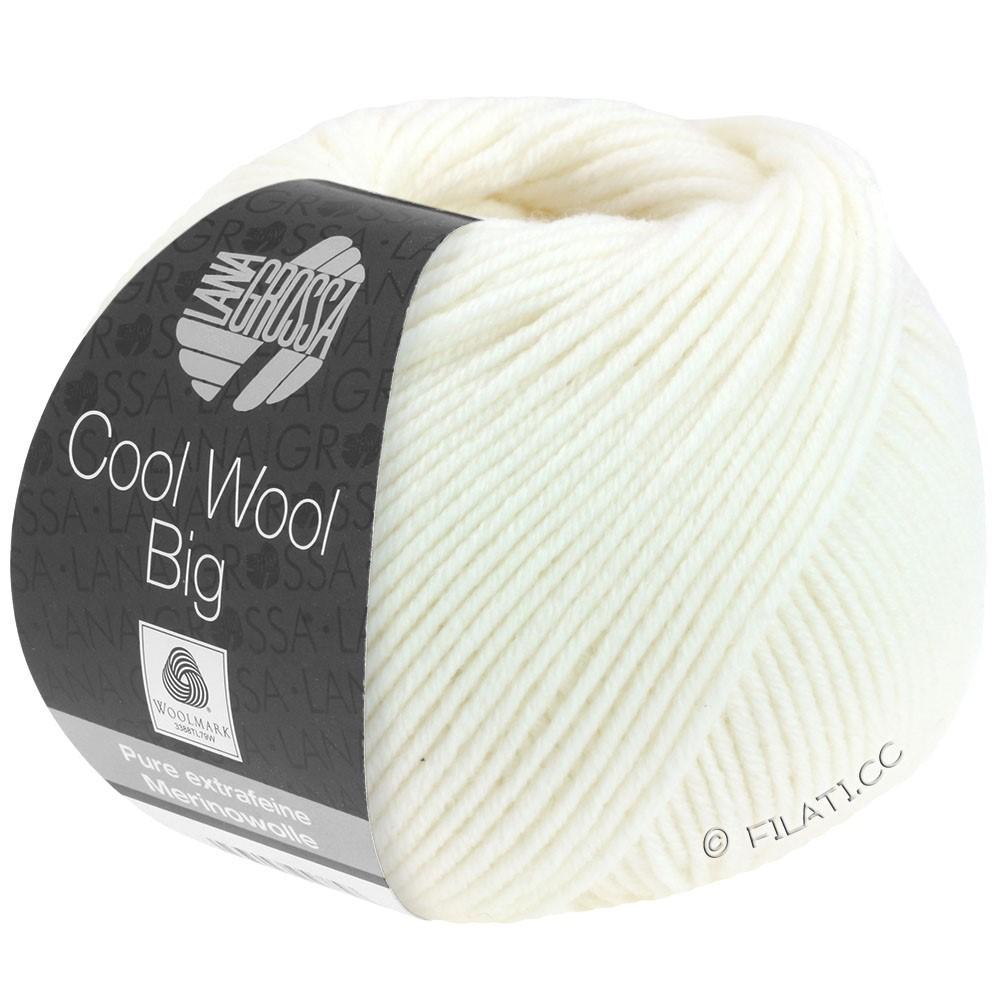 COOL WOOL Big Uni/Melange/Print - von Lana Grossa | 0615-Weiß