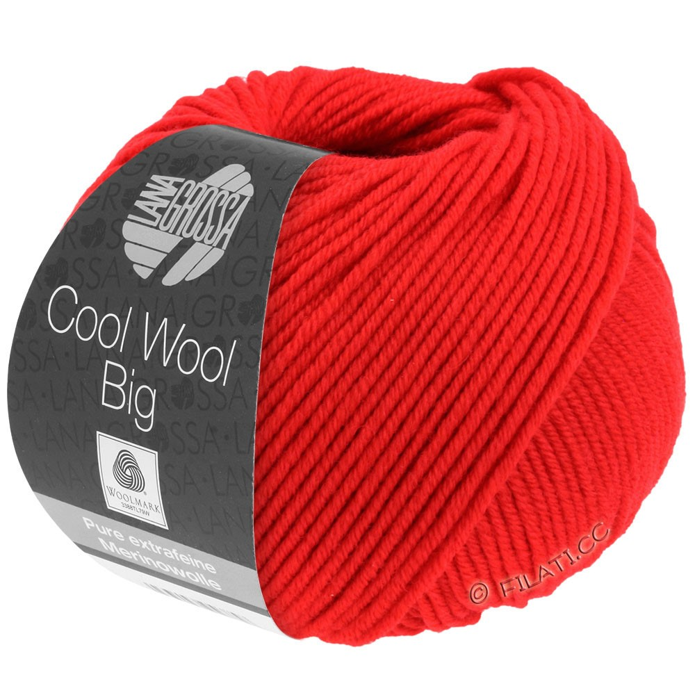 COOL WOOL Big Uni/Melange/Print - von Lana Grossa | 0923-Leuchtendrot