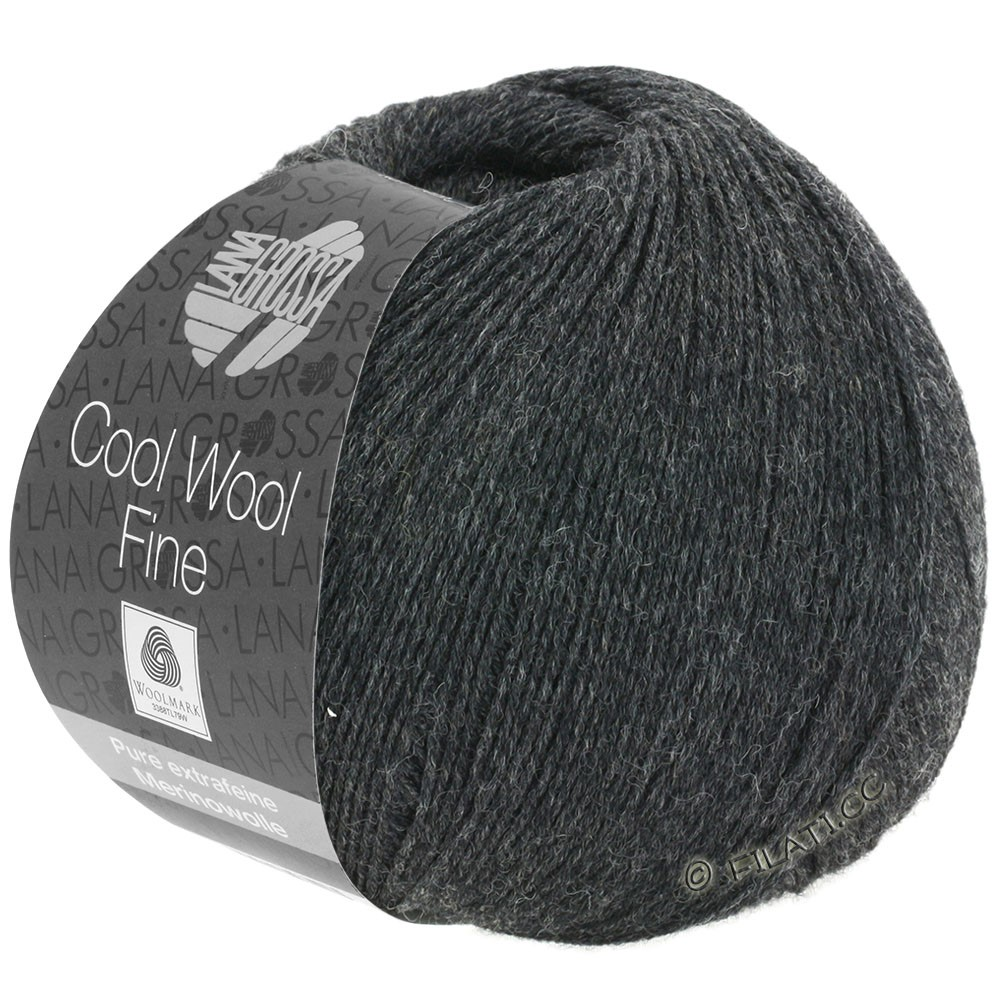 COOL WOOL Fine - von Lana Grossa | 17-Anthrazit