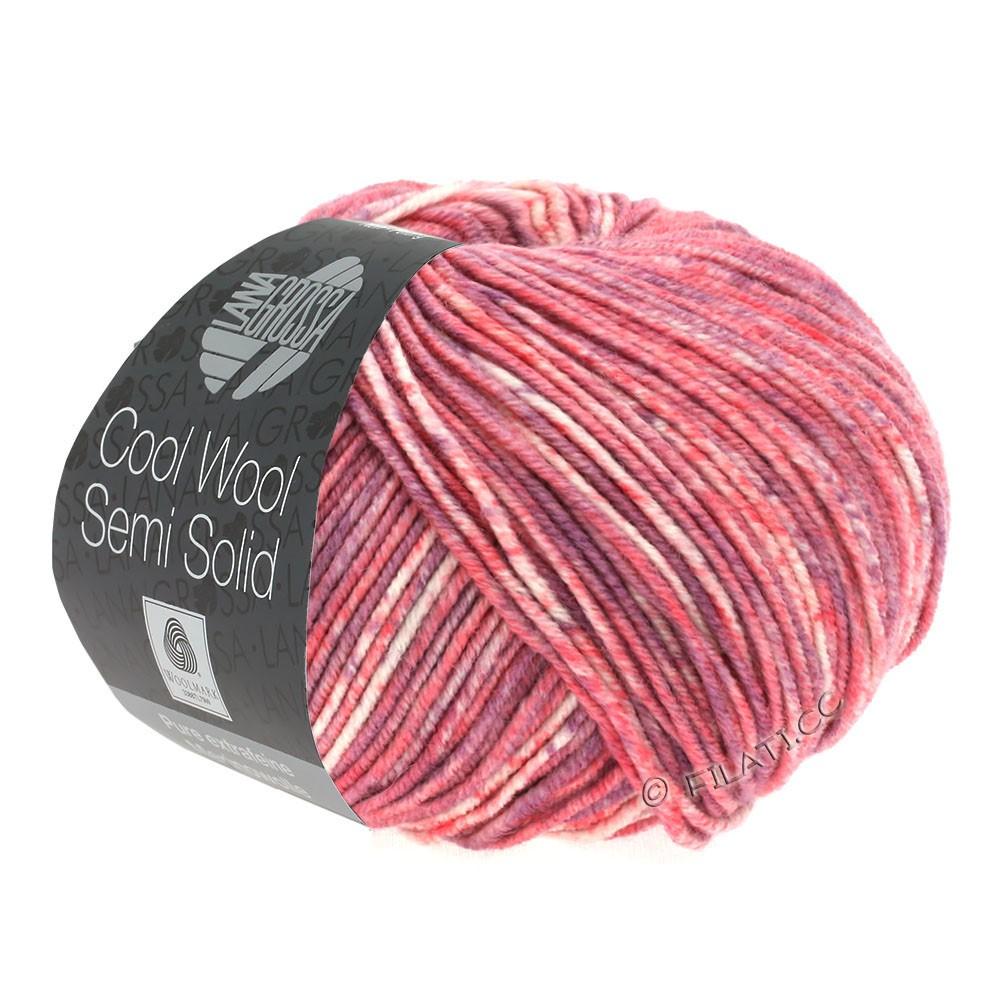 COOL WOOL Semi Solid - von Lana Grossa   6502-Lachs/Antikviolett meliert
