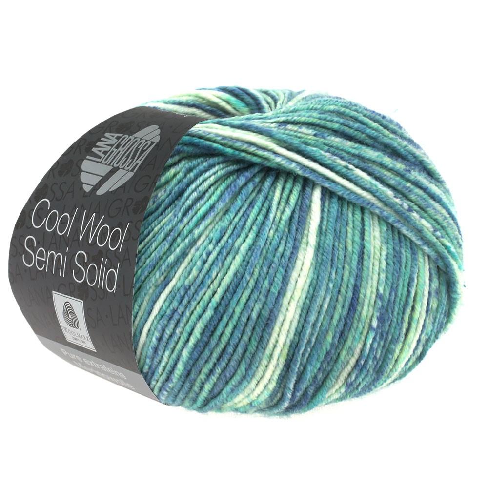 COOL WOOL Semi Solid - von Lana Grossa   6506-Jeans/Jade meliert