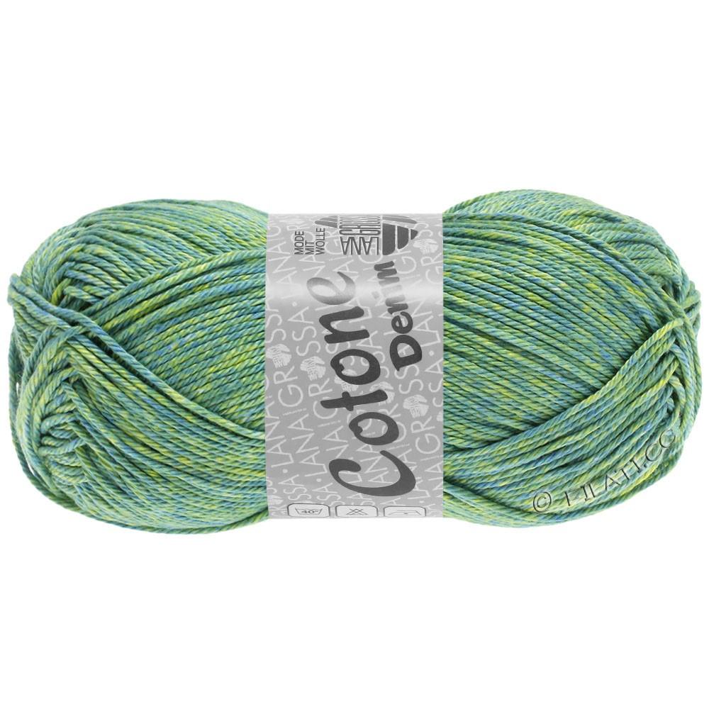 COTONE  Print/Denim - von Lana Grossa   705-Blaugrün/Gelbgrün/Linde
