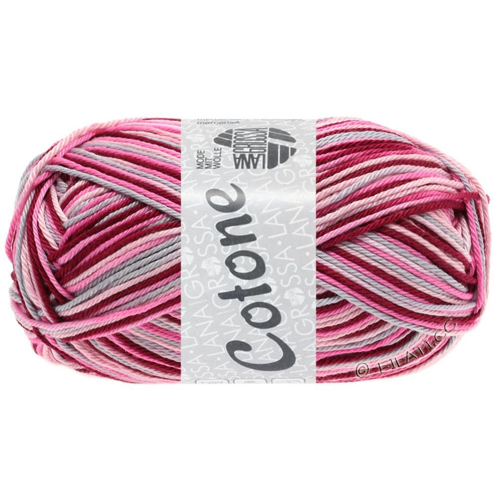 COTONE  Print/Denim - von Lana Grossa   327-Rosa/Pink/Bordeaux/Hellgrau