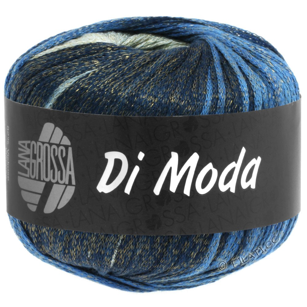 DI MODA - von Lana Grossa | 03-Grüngrau/Blau/Nachtblau/Graublau