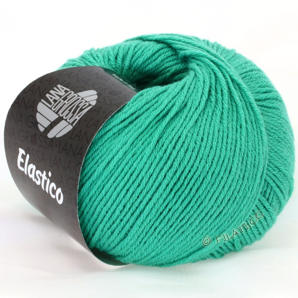 ELASTICO Uni/Print - von Lana Grossa | 106-Smaragd