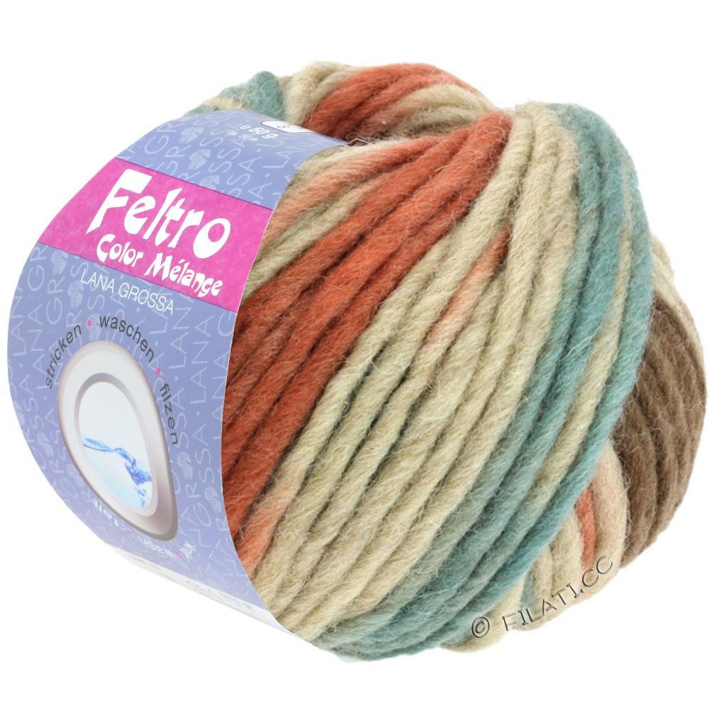 FELTRO Color Melange - von Lana Grossa | 1001-Beige/Rotbraun/Graugrün