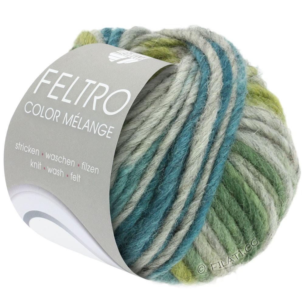 FELTRO Color Melange - von Lana Grossa | 1002-Grau/Oliv/Petrol/Grün