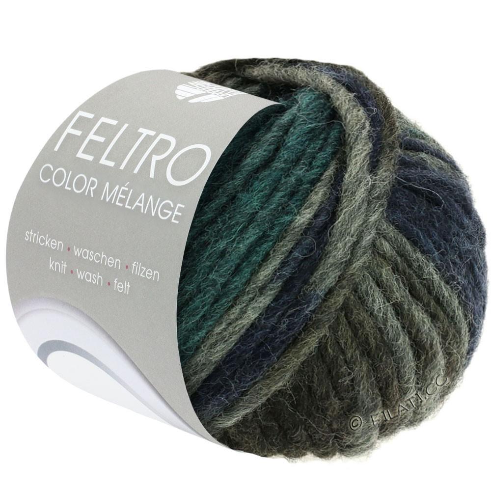 FELTRO Color Melange - von Lana Grossa | 1003-Dunkelgrau/Anthrazit/Dunkelpetrol