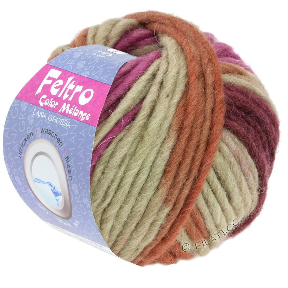 FELTRO Color Melange - von Lana Grossa | 1006-Beige/Terracotta/Zyklam