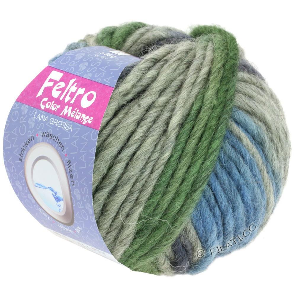 FELTRO Color Melange - von Lana Grossa | 1010-Grau/Dunkelgrau/Taubenblau/Grün