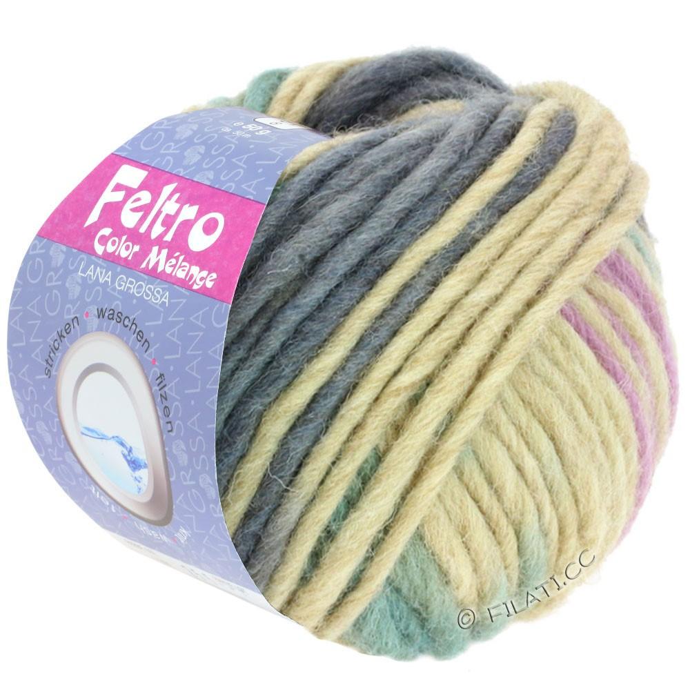 FELTRO Color Melange - von Lana Grossa | 1011-Fliederrosa/Beige/Grau/Graugrün