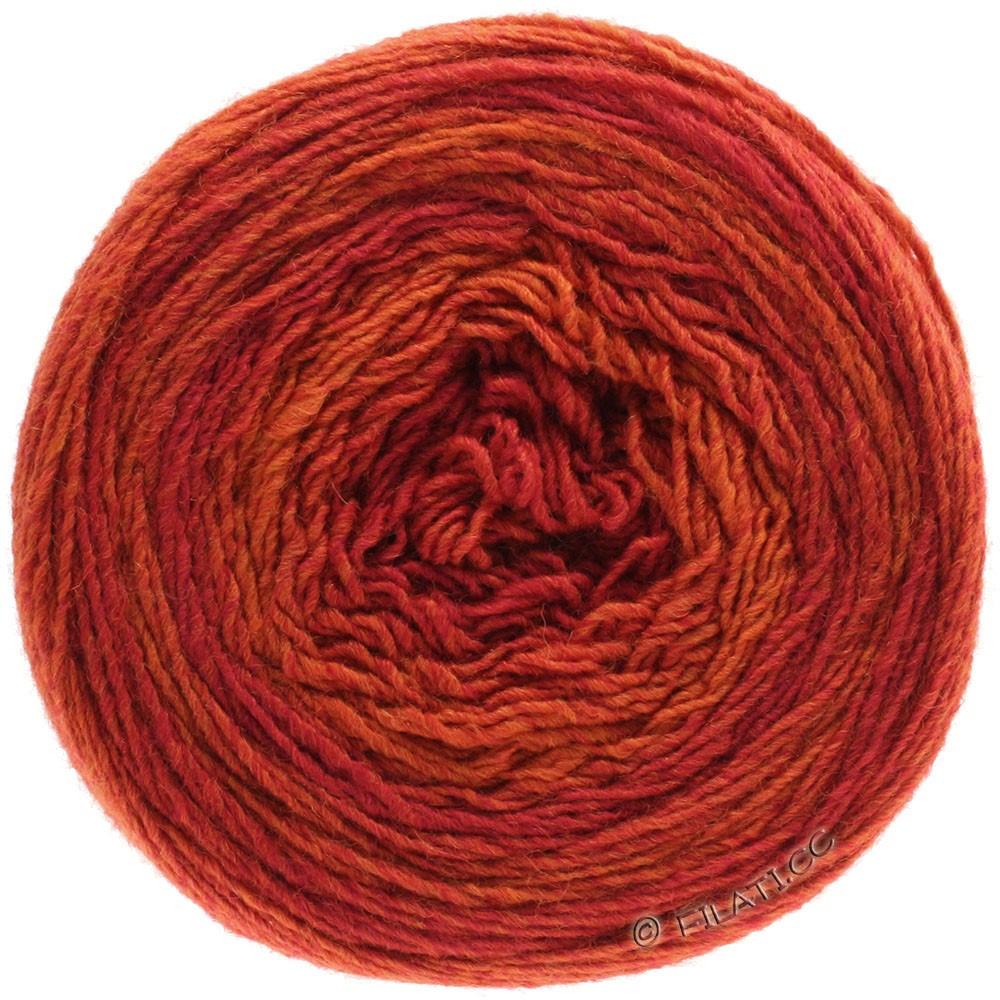 GOMITOLO 200 Degradé - von Lana Grossa | 305-Rot/Orange