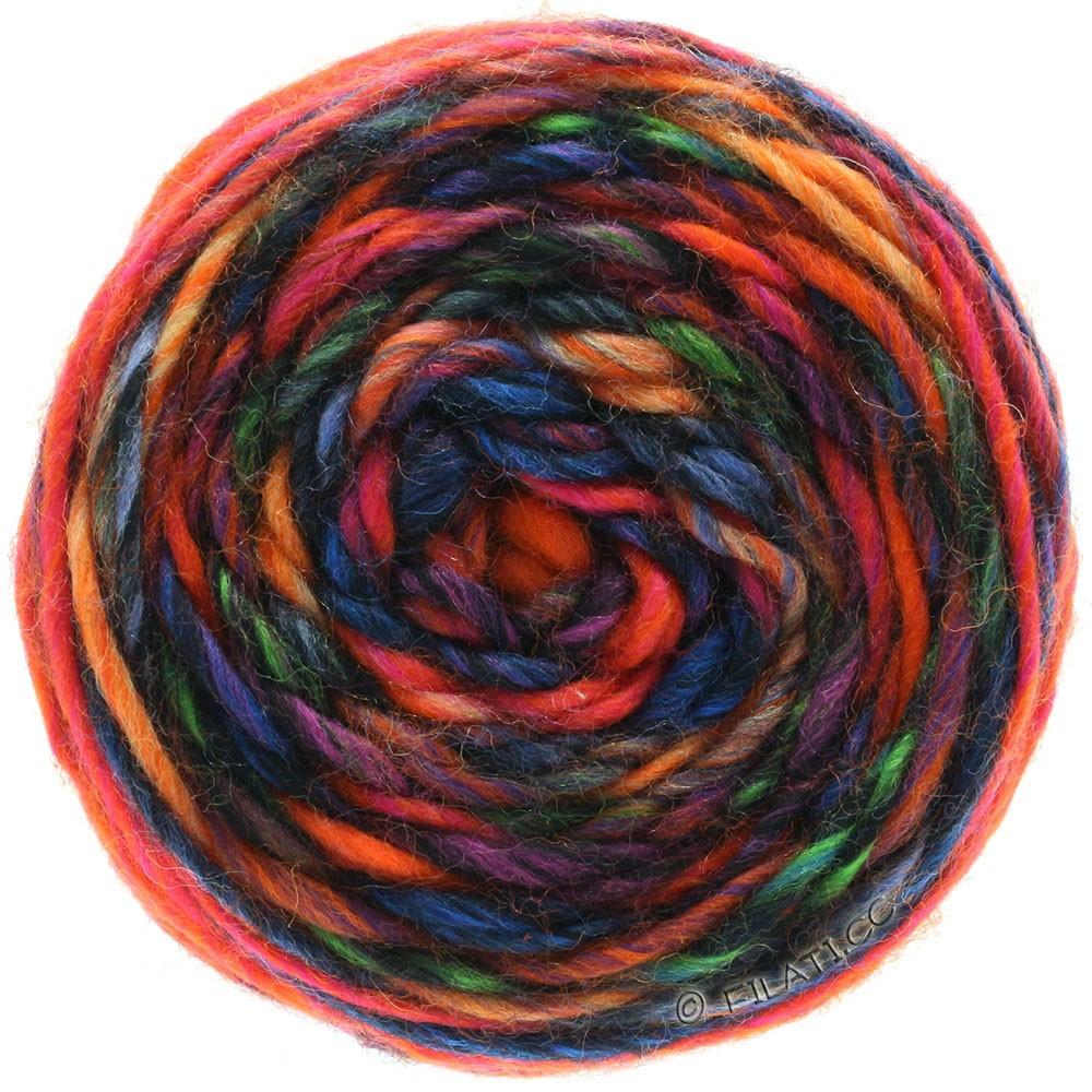 GOMITOLO Merino - von Lana Grossa   05-Orange/Rot/Violett/Petrol/Blau/Schwarz