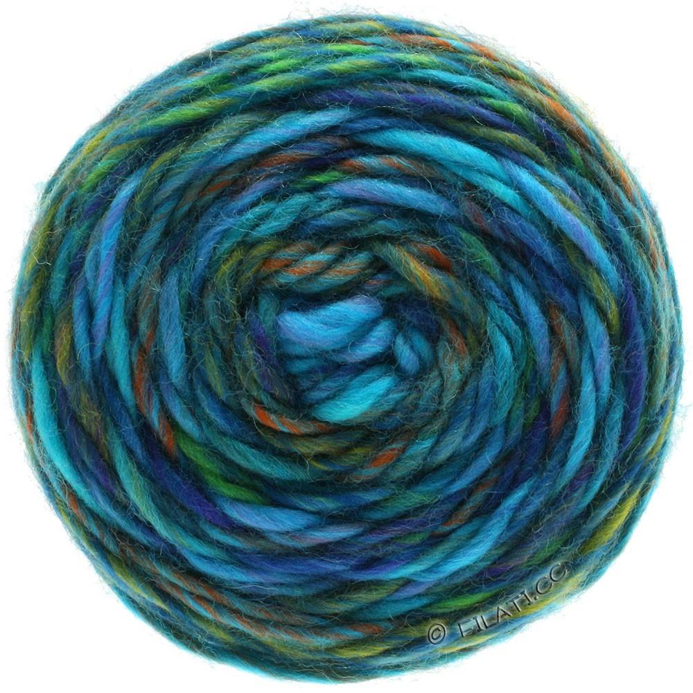 GOMITOLO Merino - von Lana Grossa   08-Flieder/Blauviolett/Jade/Kupfer