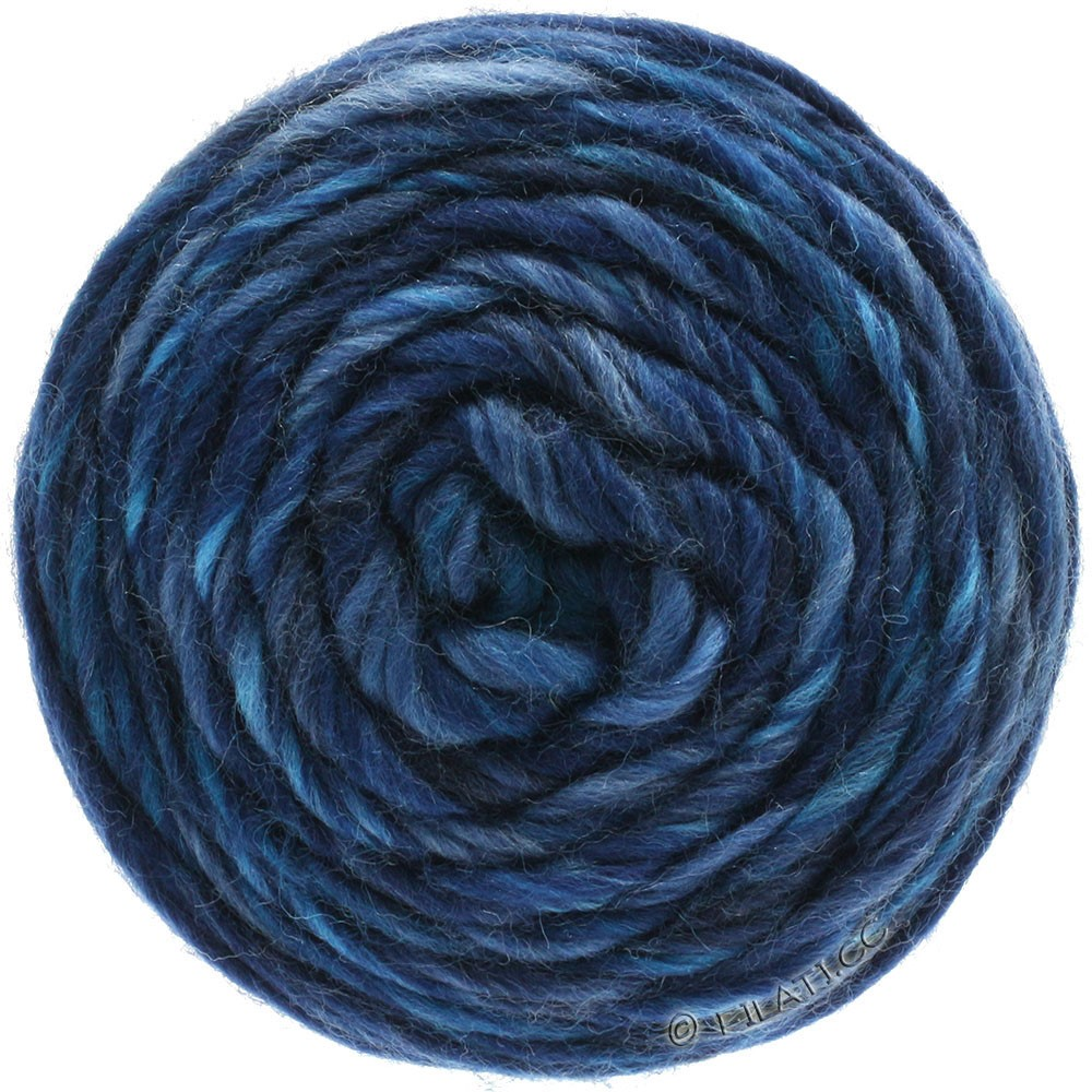 GOMITOLO Merino - von Lana Grossa   09-Hellblau/Jeans/Dunkelblau