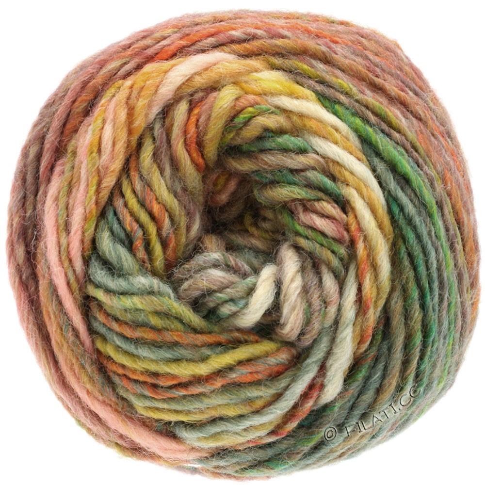 GOMITOLO MEZZO - von Lana Grossa | 108-Camel/Rosa/Graugrün/Orange/Jade/Rotviolett/Khaki