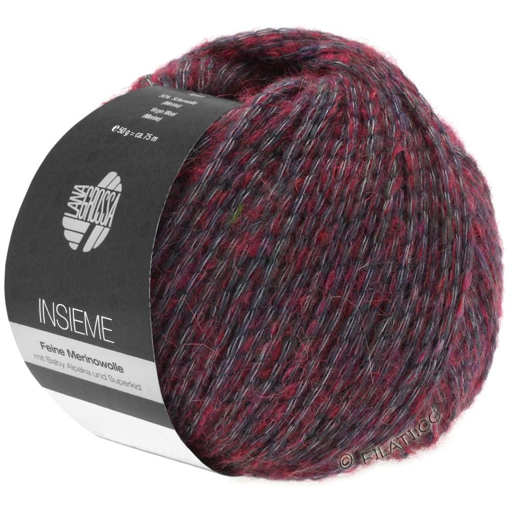 INSIEME - von Lana Grossa   12-Grau/Bordeaux
