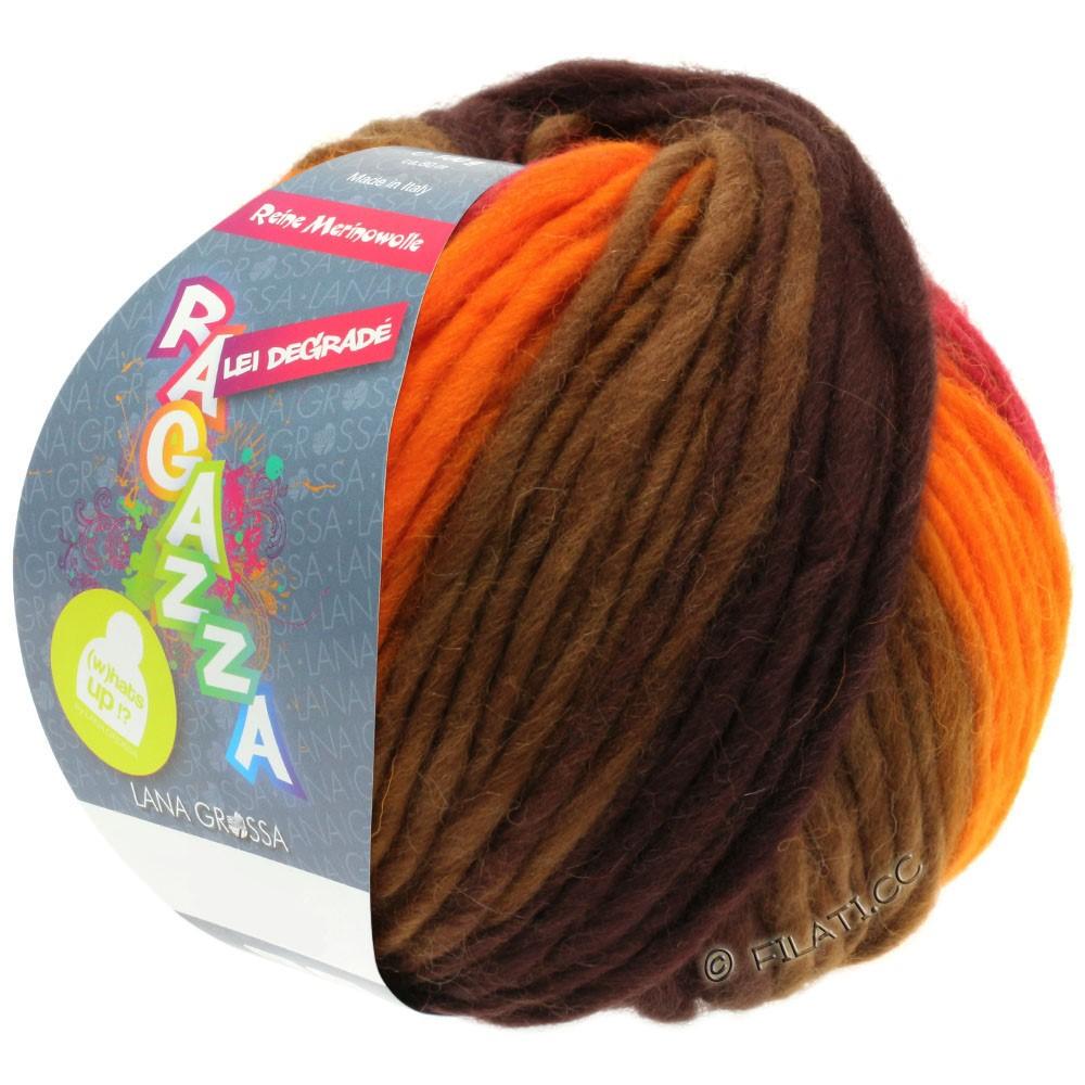 LEI Degradé (Ragazza) - von Lana Grossa | 506-Orange/Rot/Braun