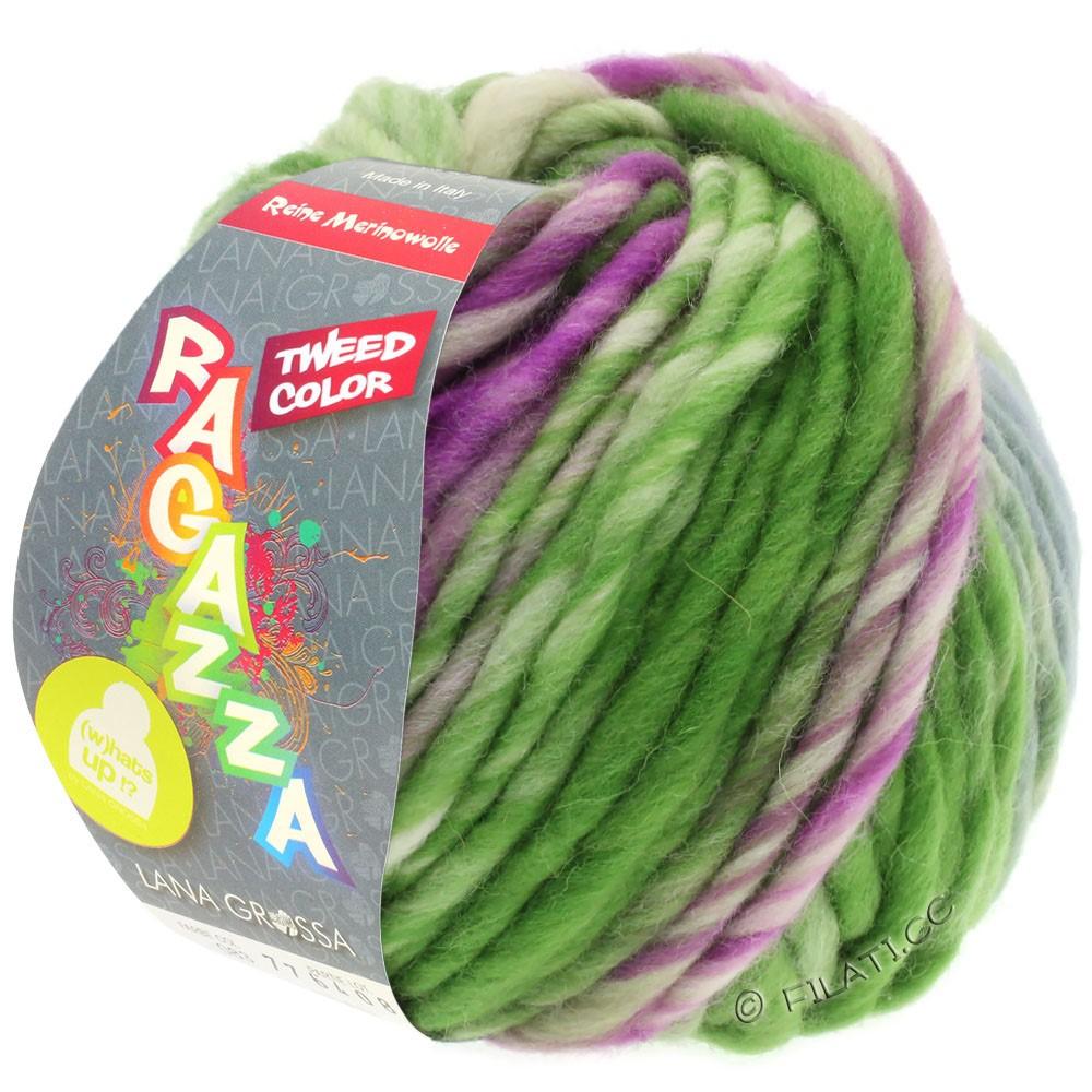 LEI Tweed Color (Ragazza) - von Lana Grossa | 402-Blaugrau/Grün/Rotviolett meliert