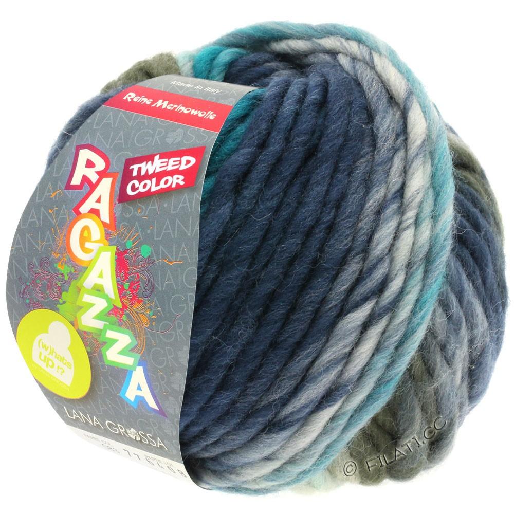 LEI Tweed Color - von Lana Grossa | 403-Hellblau/Blaugrau/Dunkelblau meliert