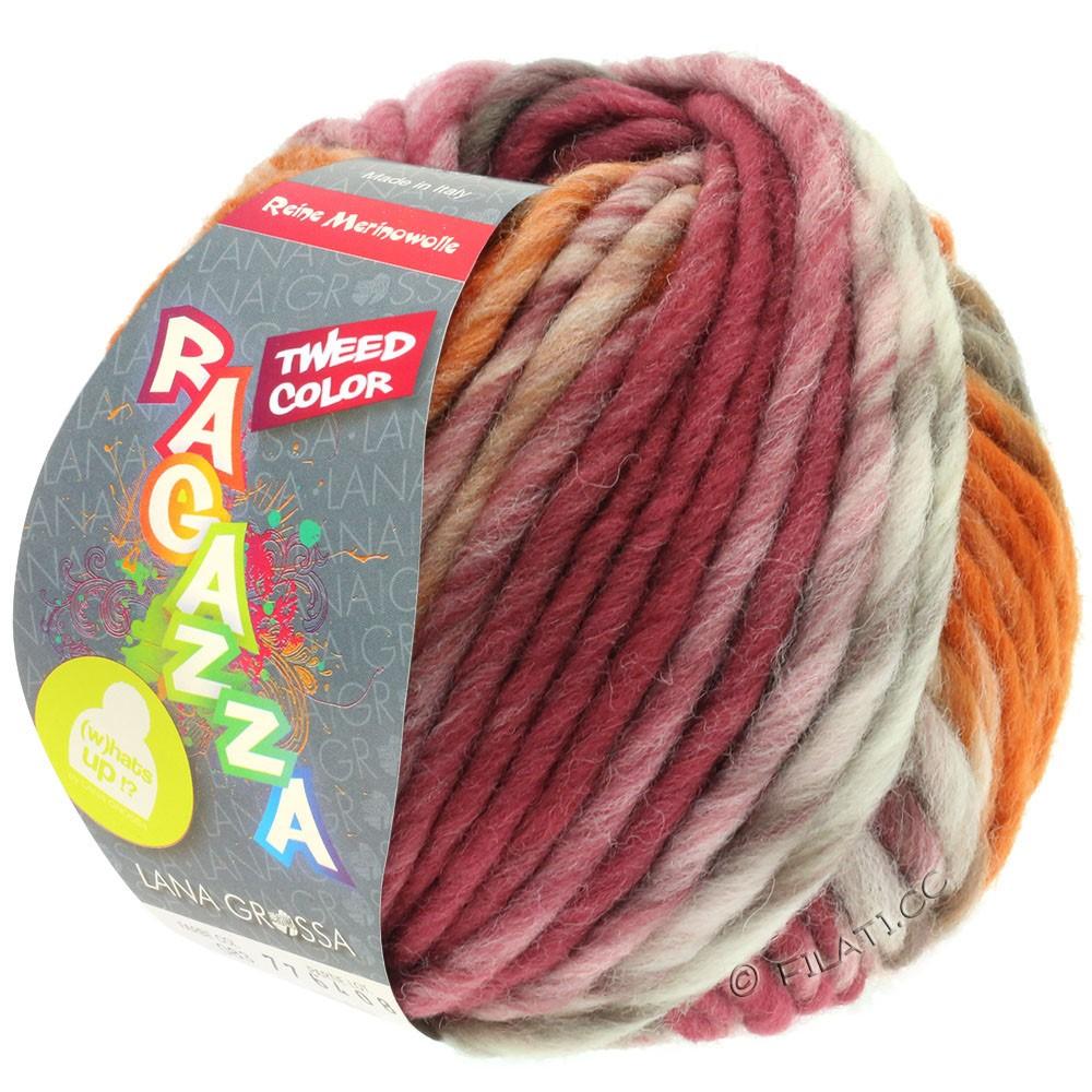 LEI Tweed Color - von Lana Grossa | 406-Natur/Taupe/Schokobraun/Rosenholz/Cognac meliert