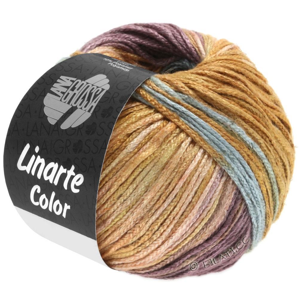 LINARTE Color - von Lana Grossa | 201-Minttürkis/Beigerot/Antikviolett/Ockerbraun