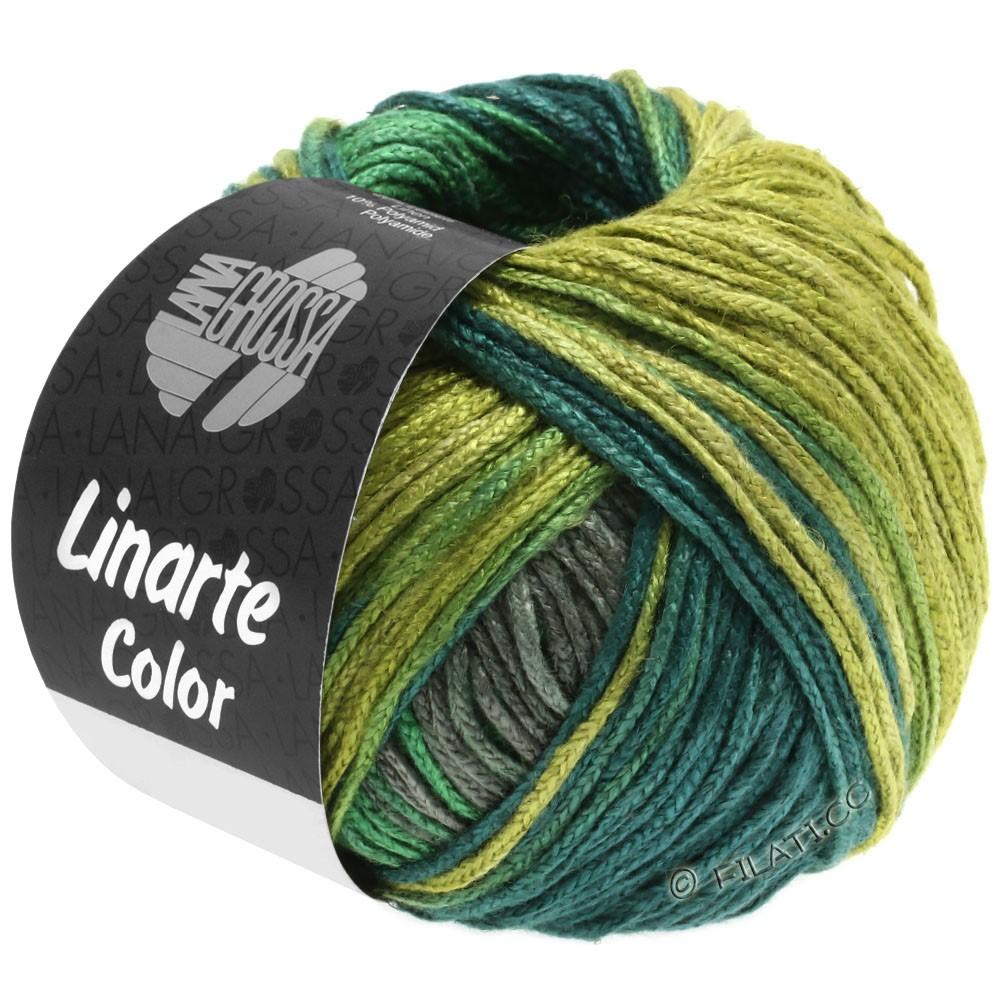 LINARTE Color - von Lana Grossa | 205-Schilfgrün/Moosgrün/Türkisgrün/Graphitgrau