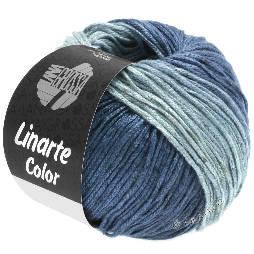 LINARTE Color - von Lana Grossa | 206-Taubenblau/Blaugrau/Ozeanblau/Jeans