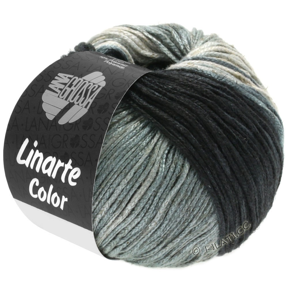 LINARTE Color - von Lana Grossa | 207-Graubeige/Steingrau/Quartzgrau/Schiefergrau/Anthrazit