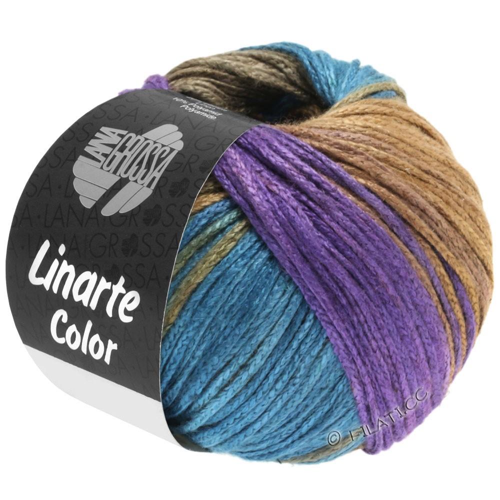 LINARTE Color - von Lana Grossa   208-Violett/Petrol/Khaki/Sandgelb