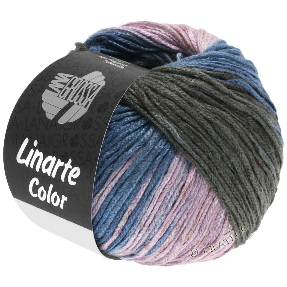 LINARTE Color - von Lana Grossa   209-Graublau/Graphit/Rosé/Khaki