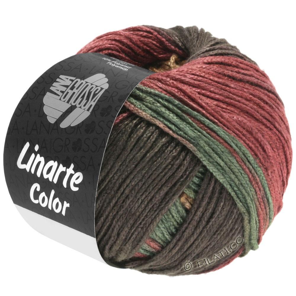 LINARTE Color - von Lana Grossa   211-Mokka/Sand/Rotbraun/Resedagrün