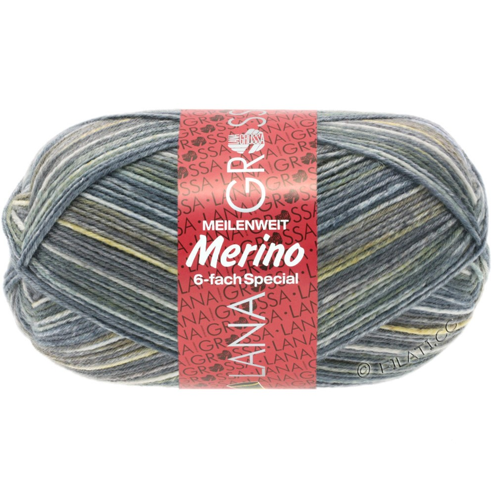 MEILENWEIT 6-FACH 150g Merino Print von Lana Grossa