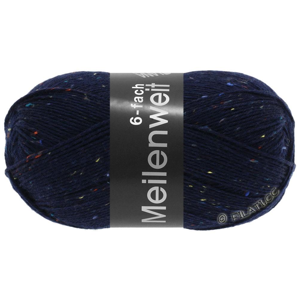 MEILENWEIT 6-FACH 150g Print/Tweed - von Lana Grossa | 8816-Nachtblau meliert
