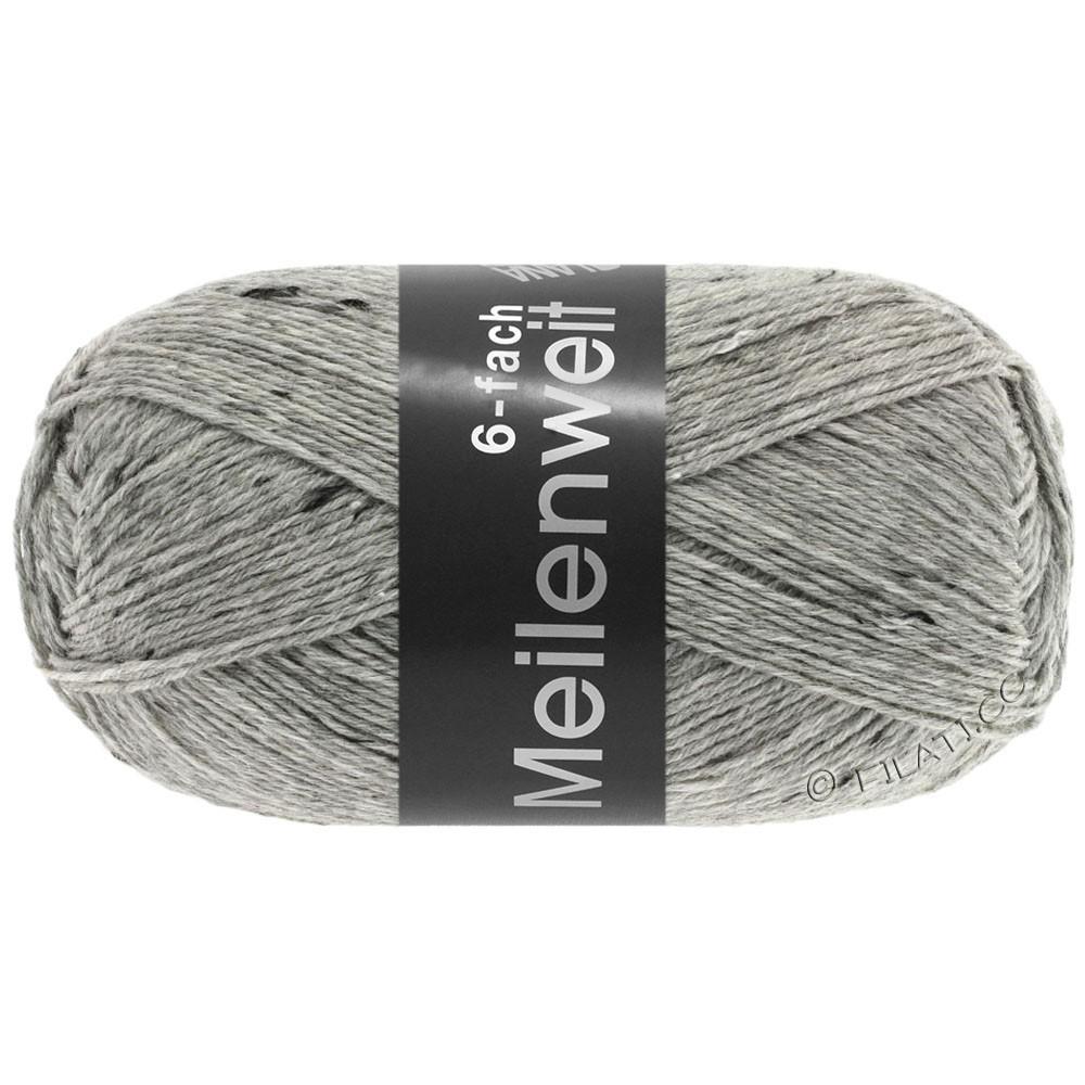 MEILENWEIT 6-FACH 150g Print/Tweed - von Lana Grossa | 8972-Hellgrau meliert