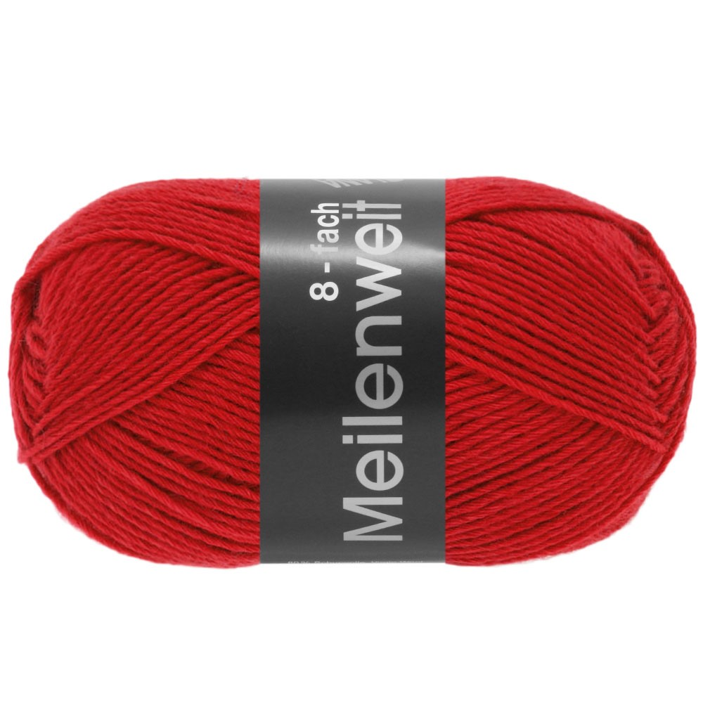 MEILENWEIT 8-FACH 100g Uni - von Lana Grossa | 9555-Rot