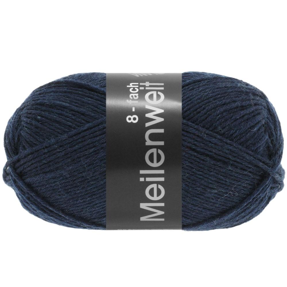 MEILENWEIT 8-FACH 100g Uni - von Lana Grossa | 9556-Nachtblau