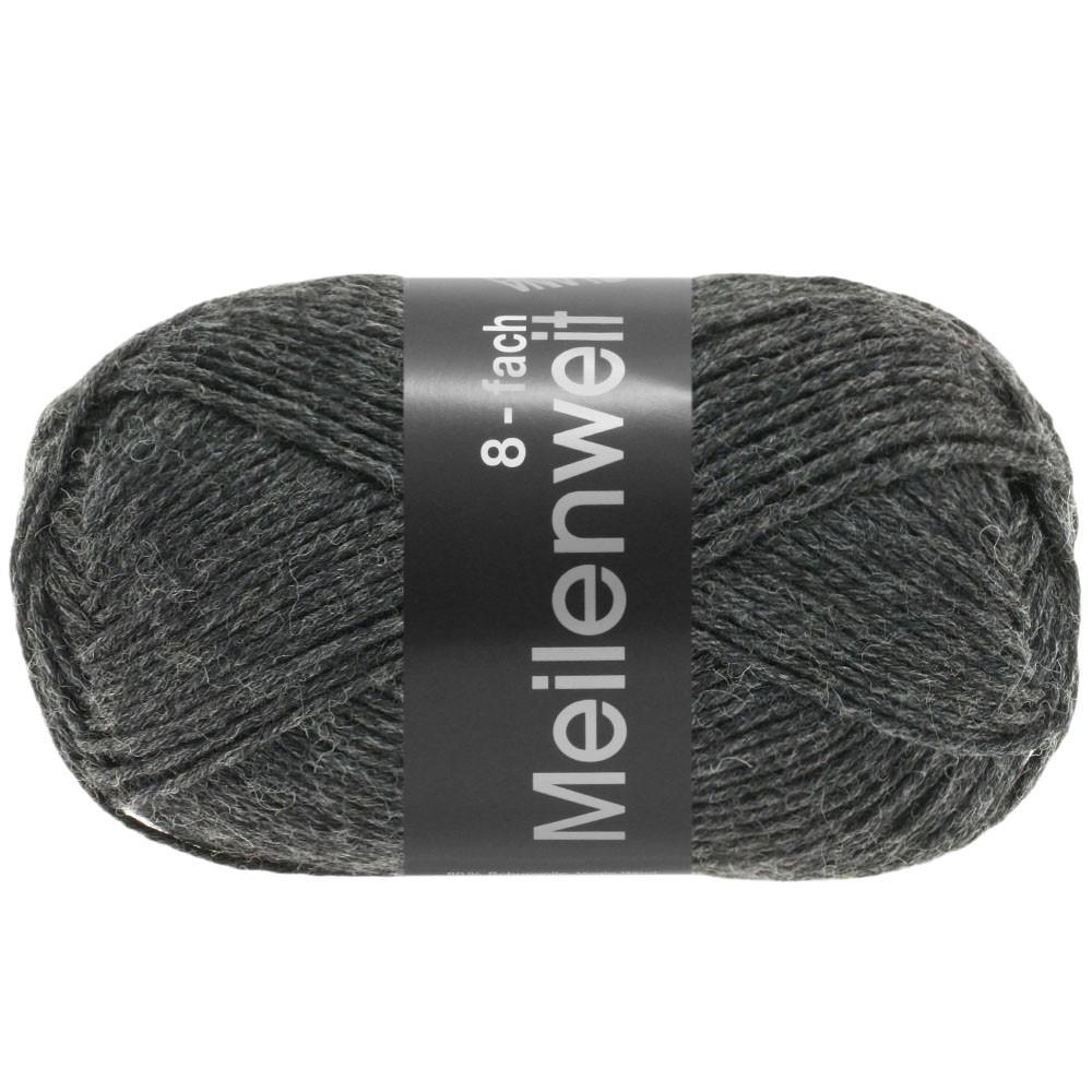 MEILENWEIT 8-FACH 100g Uni - von Lana Grossa | 9557-Anthrazit