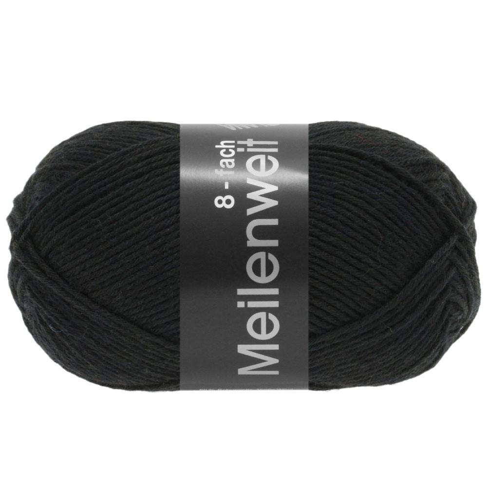 MEILENWEIT 8-FACH 100g Uni - von Lana Grossa | 9558-Schwarz