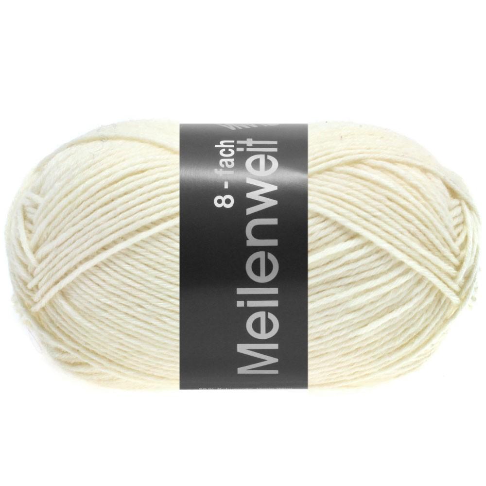 MEILENWEIT 8-FACH 100g Uni - von Lana Grossa | 9560-Weiß