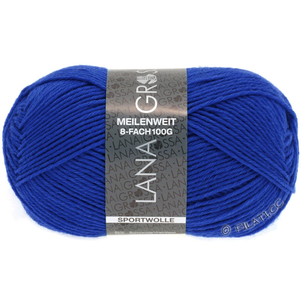 MEILENWEIT 8-FACH 100g Uni - von Lana Grossa | 9609-Royal